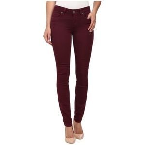 Paige Peg Sky skinnys in black cherry size 26